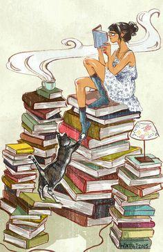 Cafe y libros la mejor combinación