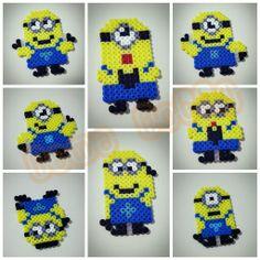 Minions Hama Perler Beads by Love Cupcoonka - www.facebook.com/hamabeadshobby