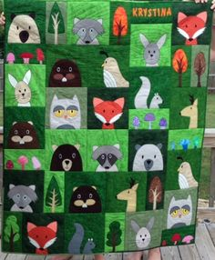 Woodland Critters quilt made by Melinda