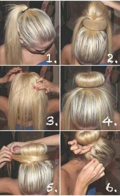 A much easier sock bun for people with layered hair. hairstyle, hair, hair tutorial, hair how to, hair do -----life saver for layered hair! Easy Bun Hairstyles, Pretty Hairstyles, Updo Hairstyle, Wedding Hairstyles, Creative Hairstyles, Latest Hairstyles, Office Hairstyles, Stylish Hairstyles, Style Hairstyle