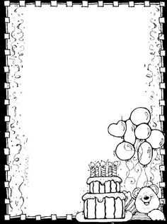 Dj inkers Clip Art - ezpinita - Picasa Web Albums Colouring Pages, Coloring Pages For Kids, Coloring Books, Notebook Cover Design, Notebook Art, Borders For Paper, Borders And Frames, Happy Birthday Coloring Pages, Dj Inkers