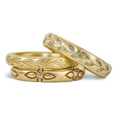 Brides.com: Yellow Gold Wedding Rings for Women