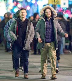 Newlywed Joseph! Recently married Joseph Gordon-Levitt and costar Seth Rogen braced for the cold shooting the as-yet-untitled Christmas Eve Project film in front of NYC's Saks Fifth Avenue Jan. 5.