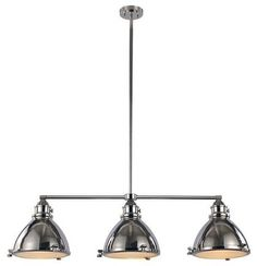 Trans Globe Lighting PND-1007 PN Island Light In Polished Nickel - transitional - Kitchen Lighting And Cabinet Lighting - Mylightingsource