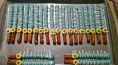 Sunflower/ frozen fever pretzel sticks