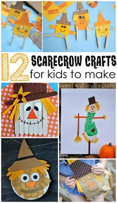 Scarecrow Crafts for Kids to Make this Fall - Crafty Morning:
