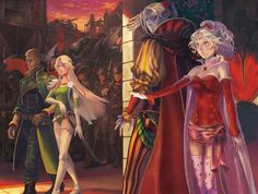 Amazing! General Leo, General Celes Chere, Kefka Pallazo and Terra Branford in Vector (FFVI) by れがん
