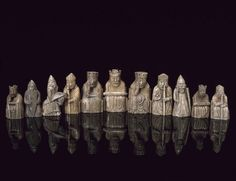 Though the oldest chess reference comes from Persian literature by Karnamak in 600 A.D., the walrus tusks and whale teeth pieces found on the Isle of Lewis, Scotland, is the oldest known complete set, dating from 1150-1200 AD.