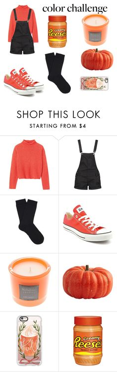 """""""black and orange"""" by rachellepalosi ❤ liked on Polyvore featuring interior, interiors, interior design, home, home decor, interior decorating, Toast, Boohoo, Falke and Converse"""