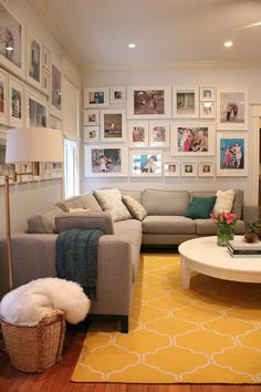 3-picture-frame-collage-living-room-transitional-with-photo-gallery-wall-yellow-and-white-lattice-print-area-rug-yellow-and-white-lattice-print-area-r-5 (660×990)