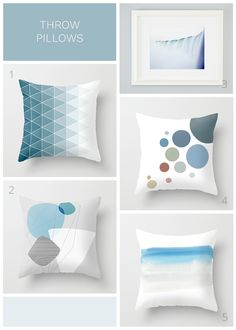 How to choose throw pillows for your sofa - choose one pillow you love, pair with similar colours by the same designer, and mix and match sizes and shapes.