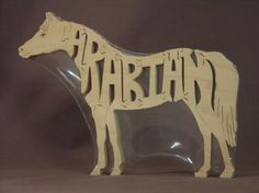 Arabian Arab Horse Puzzle Wooden Toy Hand Cut with Scroll Saw