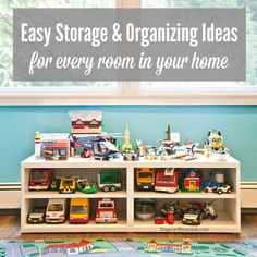 11 easy storage and organizing ideas for every room in your home! Dagmar's Home. DagmarBleasdale.com #organizing #storage #DIY