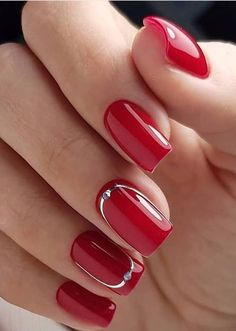 30 amazing natural summer square nails design for short nails - na . - 30 Amazing Natural Summer Square Nails Design for Short Nails – Nail Art Ideas – 30 Amazing Nat - Square Nail Designs, Red Nail Designs, Halloween Nail Designs, Short Nail Designs, Halloween Nails, Diy Halloween, Halloween Coffin, Halloween College, Halloween Desserts