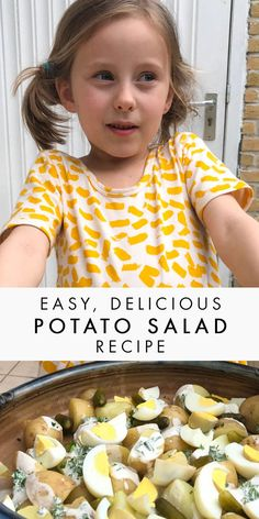 Easy and delicious potato salad recipe, perfect for BBQ, picnics, or just as a summer salad dish!