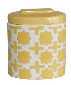 Take a look at this Yellow Short Round Jar  by Color Trend: Bold Brights on #zulily today!
