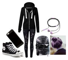 """""""Thinking About Running Away..."""" by sagereadings on Polyvore featuring Converse and Nicole Miller"""