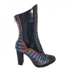 9522 Negru cu detaliu Leather Shoes, Heeled Boots, Booty, Casual, Fashion, Leather Dress Shoes, High Heel Boots, Moda, Leather Boots