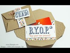 Stampin' Up! B. Y. O. P. Graduation Gift Card Holder - YouTube
