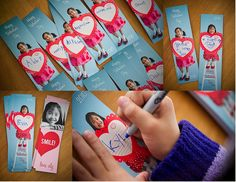 Photo Valentines Day Cards - What a great personal idea for kids school valentines. Hand Made is always the best!