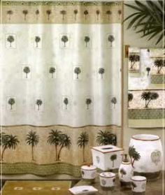 "Palm Tree ""Tropics"" Shower Curtain - SO763Mult 