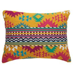 HATAN multicoloured cotton ethnic cushion 35 x 50 cm