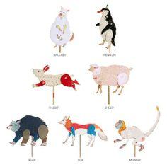 コミカルでキュートな動物ペーパークラフト by Furze Chan