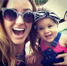 Britt and Ella in Los Angeles yesterday