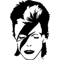 David Bowie Vinyl Decal Lightning Bolt Ziggy Stardust Diamon ...