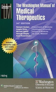 The Washington Manual of Medical Therapeutics 34th Edition PDF