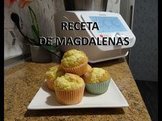 Madrid Food, Muffins, Fun Desserts, Breakfast, Recipes, Cupcake Recipes, Cookies, Kitchen Stuff, Food Processor