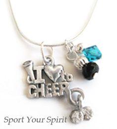 Personalized Cheer Swarovski Team Color Single by SportYourSpirit, $12.00