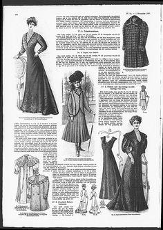 Reformdress, sleeveless, with Art Nouveau influenced bodice.   (visit site for bigger picture)  Gracieuse. Geïllustreerde Aglaja, 1907, aflevering 21, pagina 290