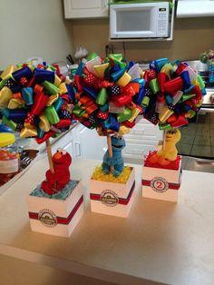 Photo 1 of Sesame Street Party / Birthday & & Elmo Birthday, First Birthday Parties, Birthday Party Themes, First Birthdays, Birthday Ideas, Theme Parties, Seasame Street Party, Sesame Street Birthday, Christmas Party Centerpieces