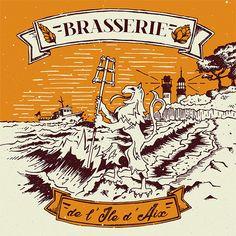 Brasserie ile aix La Rochelle France, Ile D Aix, Illustrations, Jordan, Graphic, Creations, Comic Books, Comics, Brewery