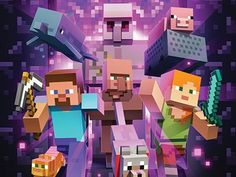 Minecraft: The Exhibition | MoPOP Minecraft Posters, Minecraft Video Games, Minecraft Mobs, Minecraft Drawings, Minecraft Pictures, Cool Minecraft Houses, Minecraft Blueprints, How To Play Minecraft, Minecraft Skins
