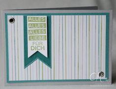 Geburtstagskarte für Männer in den Farben Schiefergrau, Lagunenblau und Farngrün mit dem Stempelset Geburtstagskracher #CarosBastelbude #stampinup carosbastelbude.wordpress.com