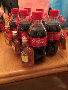 Valentine's Day gift for my boyfriend. Coke and Crown 6 pack