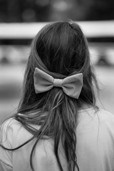 bow + long hair... come fall/winter, there will be bows (my natural/summer hair is big enough without them!)