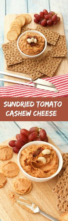 10-minute sundried tomato cashew cheese. Easy, healthy, creamy, spreadable and oh-so-cheesy! Delicious spread on crackers or as a dip for raw veggies. Vegan | Vegan Spreads | Vegan Cheese | Vegan Appetizer | lovingitvegan.com
