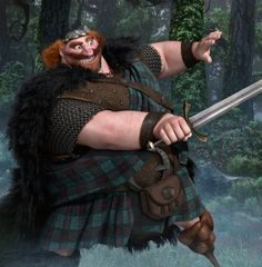 King Fergus - my ideal man. Giant, strong, a good dad, giant, and super attractive.