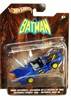 1980s Batmobile Blue With Batman Logo - Mattel Hot Wheels Batman X3078 - 1/50 Scale Diecast Model C @ niftywarehouse.com