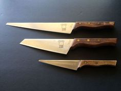 "3 Piece Set: #Molybdenum Steel #Chefs #Knives with Wood Handles by ""The Knife"" - Made in Japan"