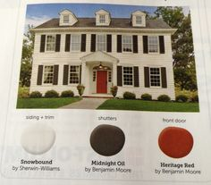 Benjamin Moore Heritage Red Looks Fabulous On Our Front