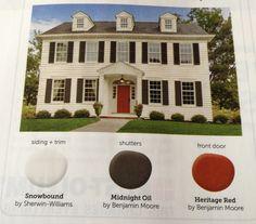 benjamin moore heritage red. looks fabulous on our front door