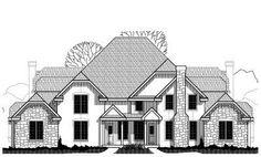 Planes casa de estilo tradicional - 7958 pies cuadrados de construcción Home, de 2 pisos, 10 Dormitorio y 8 3 cuartos de baño, 8 Cochera puestos por planes de vivienda del monstruo - Plan de 21-169