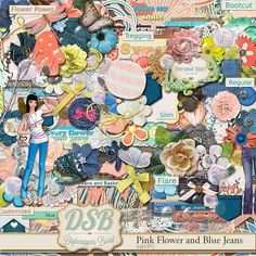 Tammy Tags Blog/Facebook Hop Post - Fall DSD 2014, Digiscrappers Brasil, Pink Flowers and Blue Jeans.  Lots of great digital scrapbooking freebies!