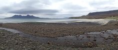 Laig Bay, Isle of Eigg, with the hills of Rum in the background. Scotland