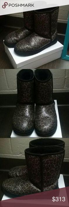 UGGS Shiny Cheetah Print (Barely Used) UGG Shoes