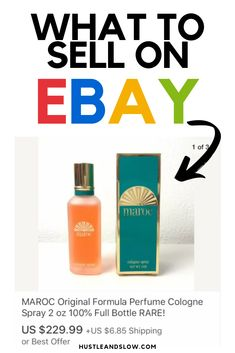 In this article, I put together 9 of the best items to sell on Ebay for profit. Things from discontinnued items, to specific kitchen items, and more. You're going to want to check out this list! Most of these items can be found for very inexpensive at yard sales, thrift stores, or clearance aisles so you can make money reselling them online. What To Sell, How To Make Money, Selling Online, Selling On Ebay, Yard Sales, Cologne Spray, Thrift Stores, Kitchen Items, Perfume